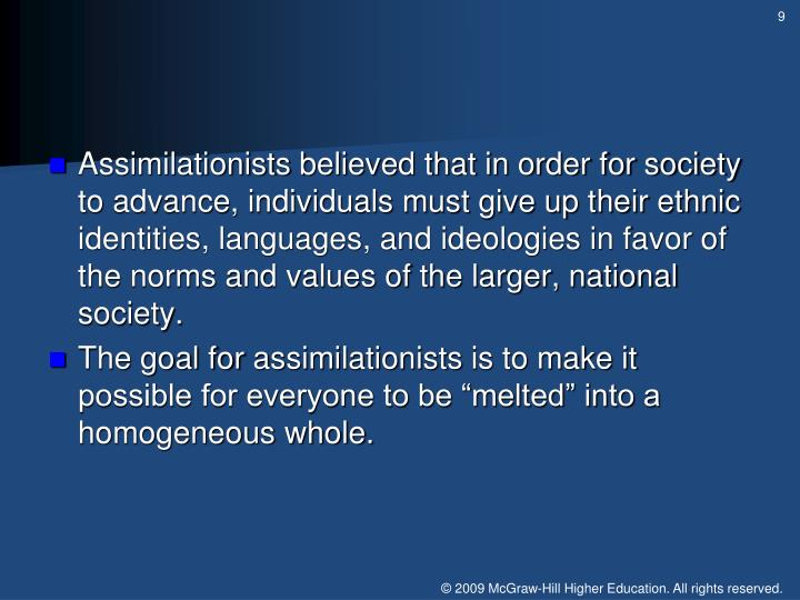 Assimilationists