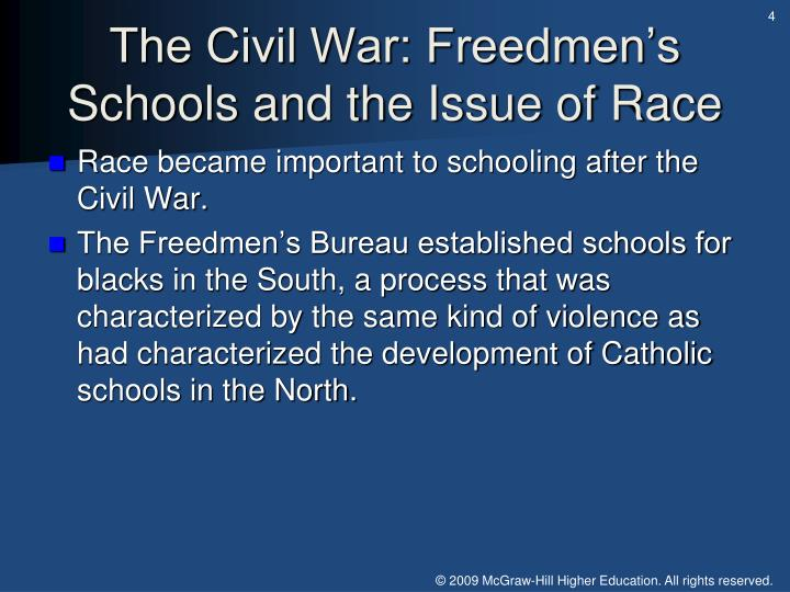 The Civil War: Freedmen's Schools and the Issue of Race