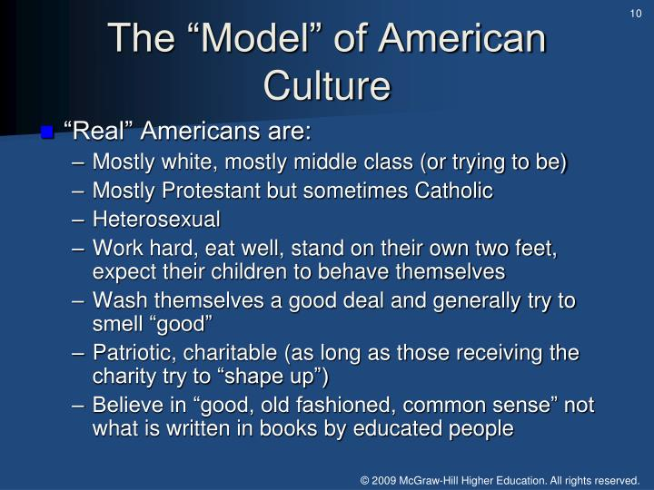 """The """"Model"""" of American Culture"""