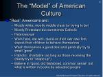 the model of american culture