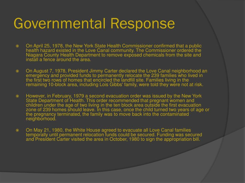 Governmental Response