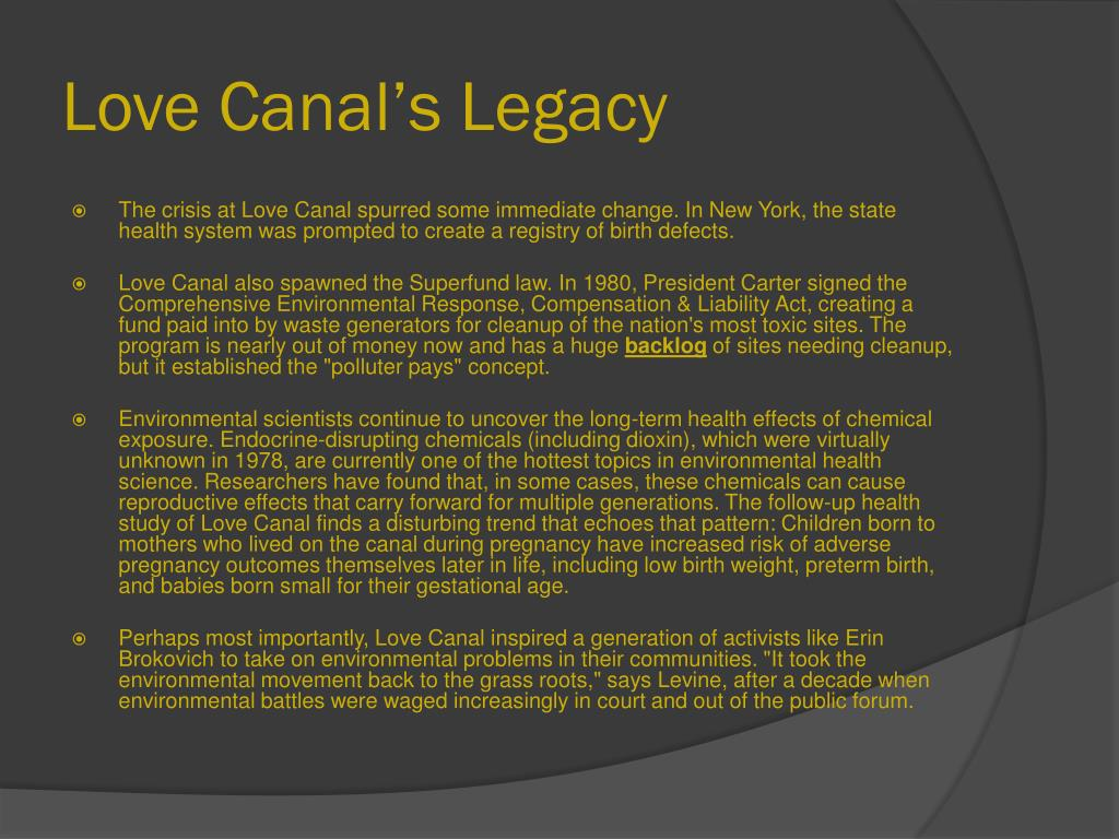 Love Canal's Legacy