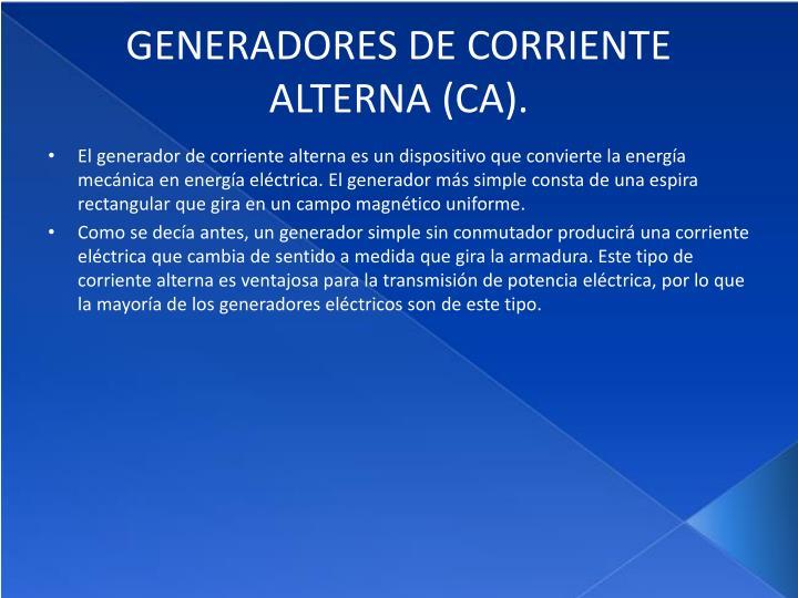 Ppt introduccion electromagnetica powerpoint - Generadores de corriente ...
