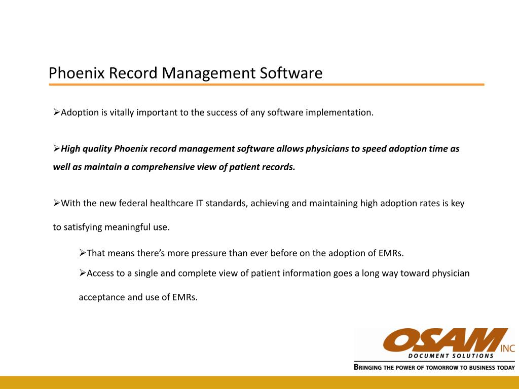 Phoenix Record Management Software