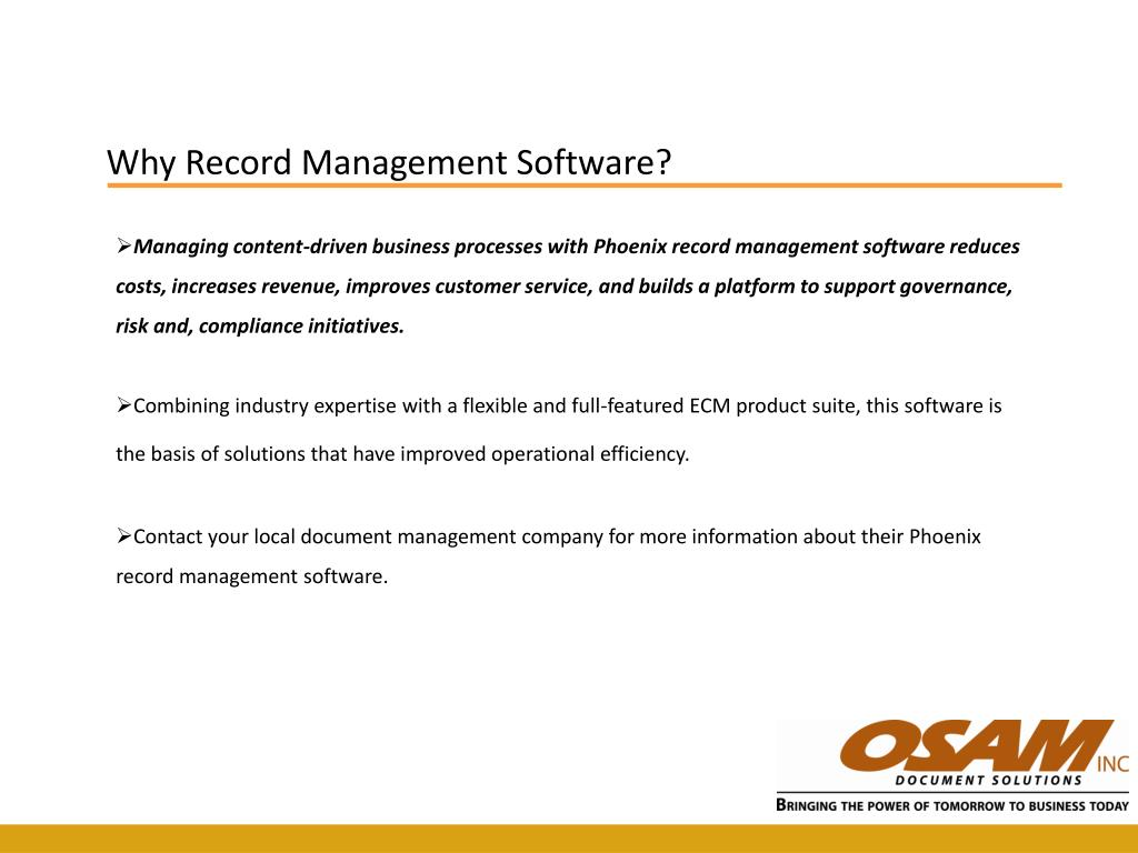 Why Record Management Software?