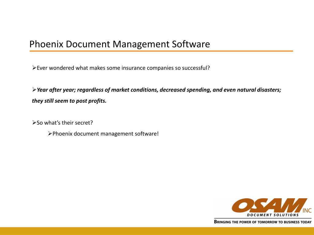 Phoenix Document Management Software