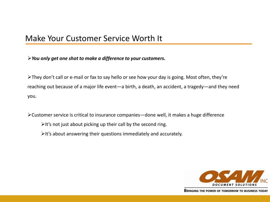 Make Your Customer Service Worth It