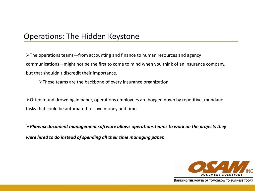 Operations: The Hidden Keystone