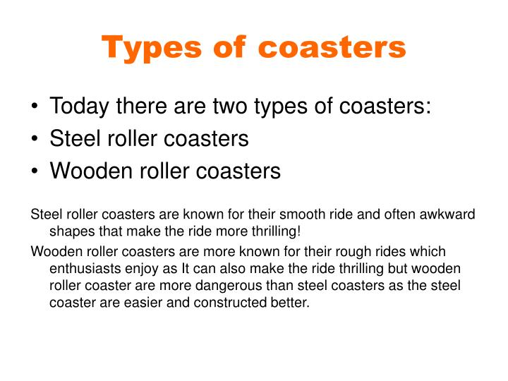 Types of coasters