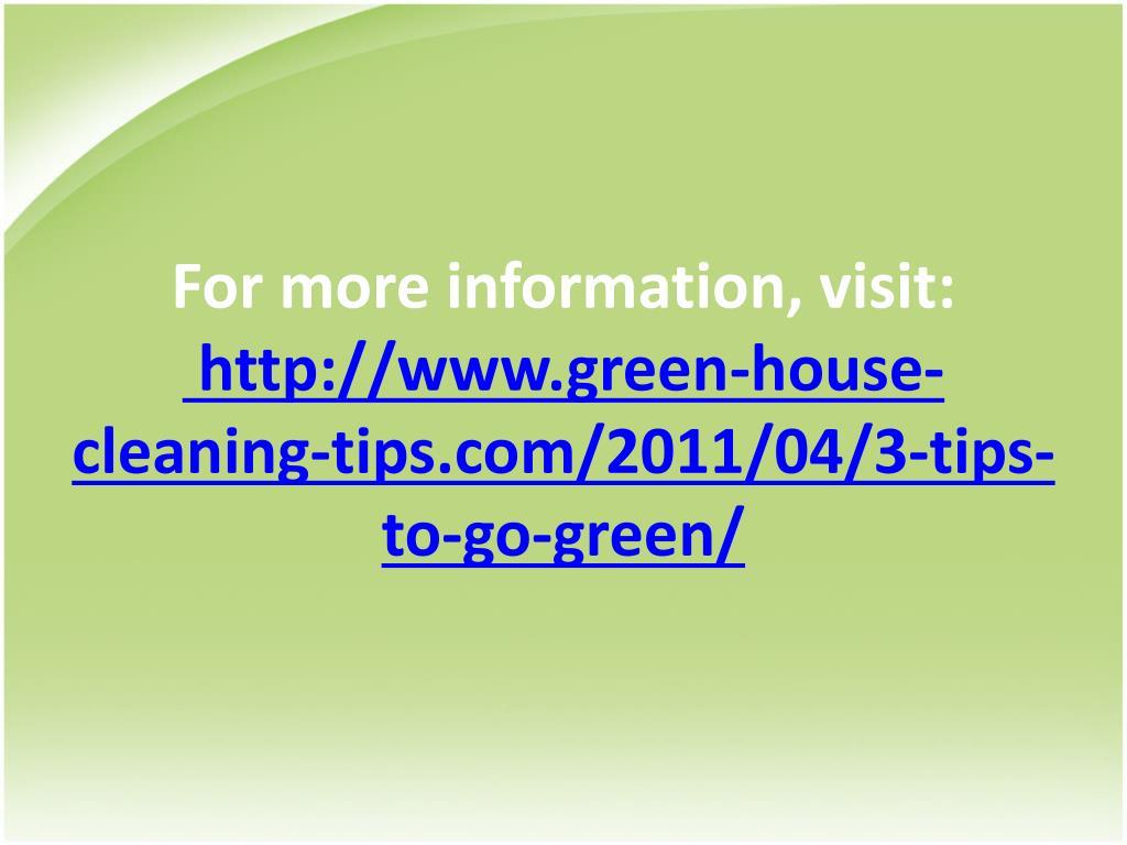 For more information, visit:
