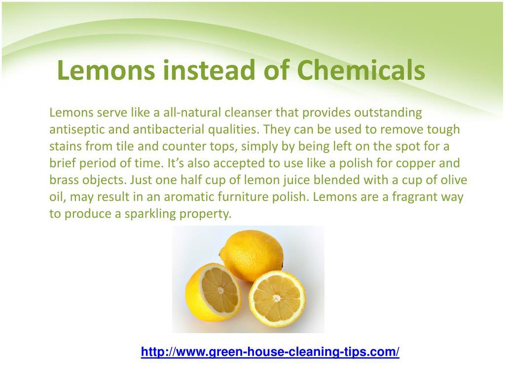 Lemons instead of Chemicals