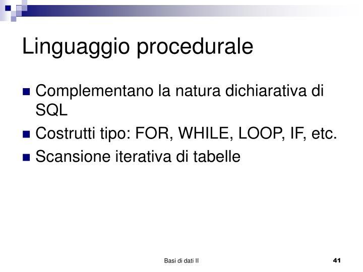 Linguaggio procedurale