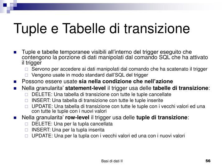 Tuple e Tabelle di transizione