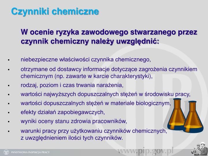 Czynniki chemiczne