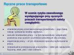 r czne prace transportowe