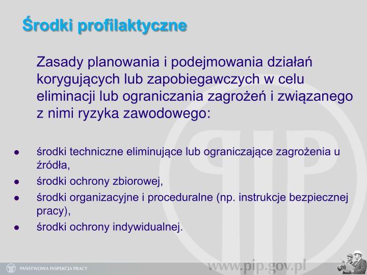 Środki profilaktyczne