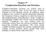 chapter 17 complexation reactions and titrations