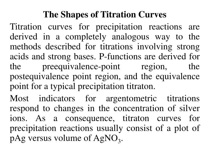 The Shapes of Titration Curves