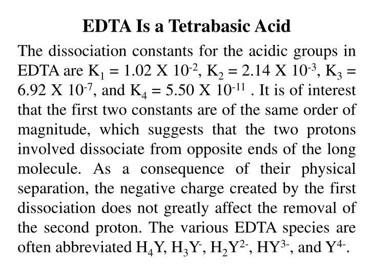 EDTA Is a Tetrabasic Acid