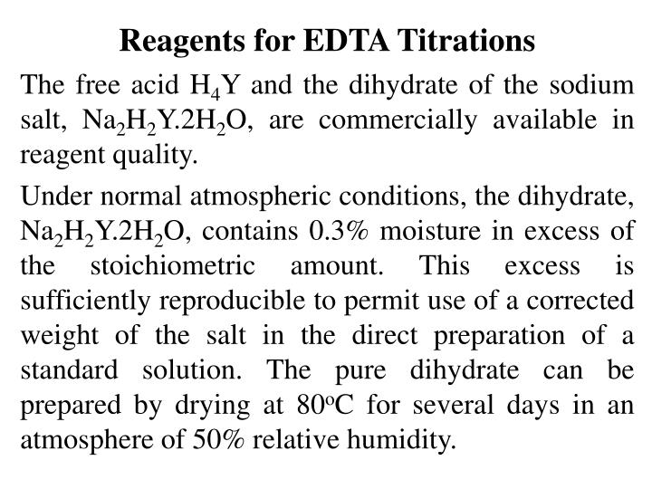 Reagents for EDTA Titrations