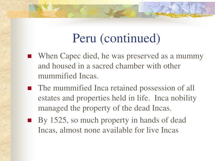 Peru (continued)