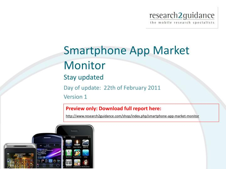 Smartphone app market monitor stay updated