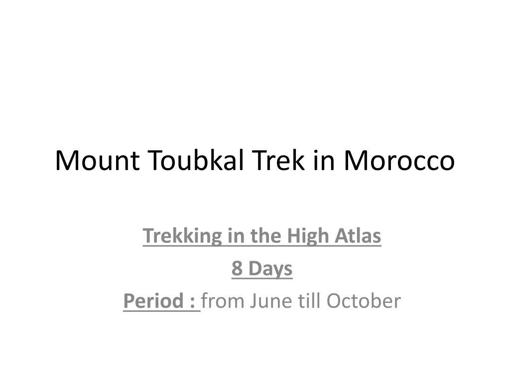 Mount Toubkal Trek in Morocco