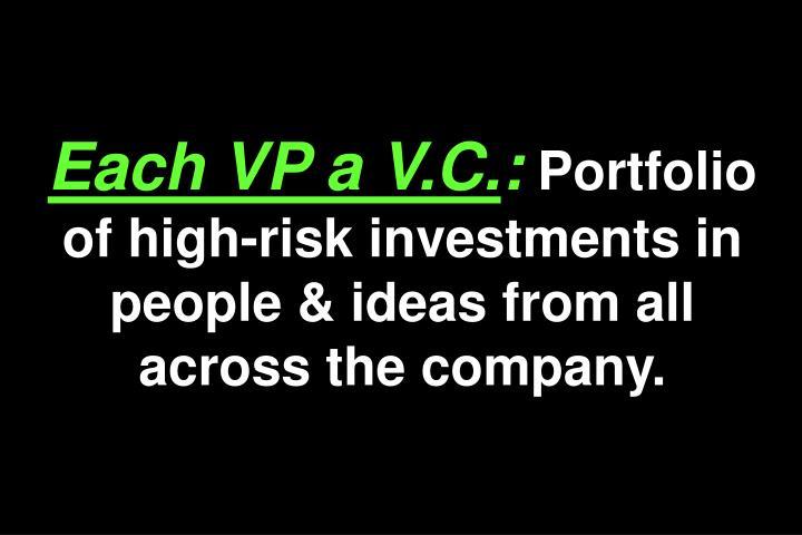 Each VP a V.C.