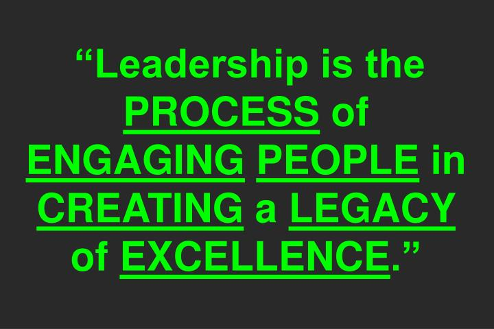 """Leadership is the"