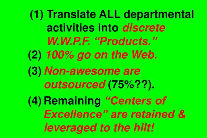 (1) Translate ALL departmental