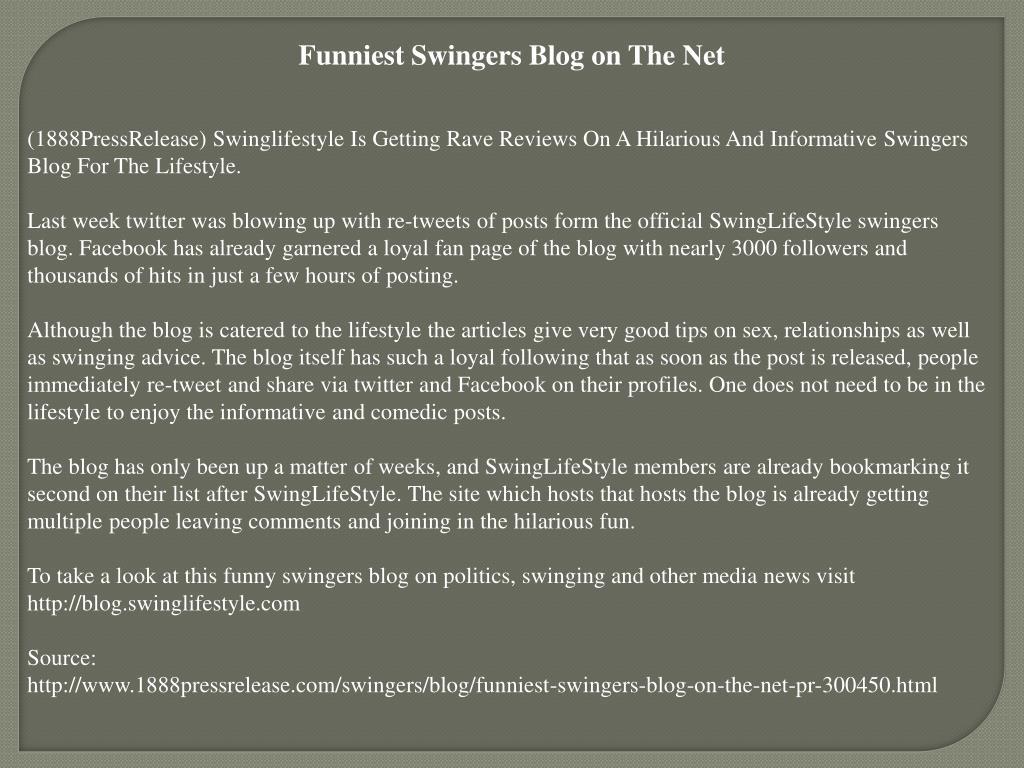 Funniest Swingers Blog on The Net