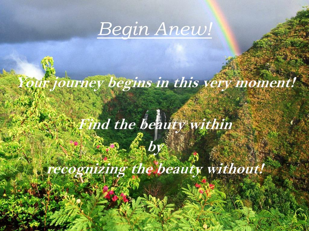 Begin Anew!