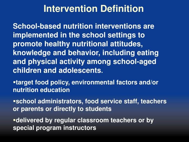 Intervention Definition