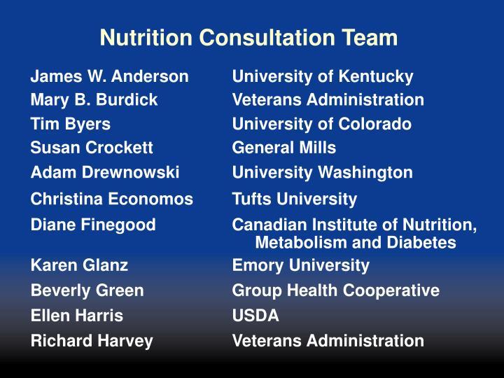Nutrition Consultation Team