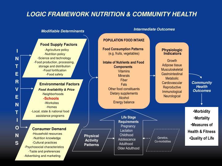 LOGIC FRAMEWORK NUTRITION & COMMUNITY HEALTH
