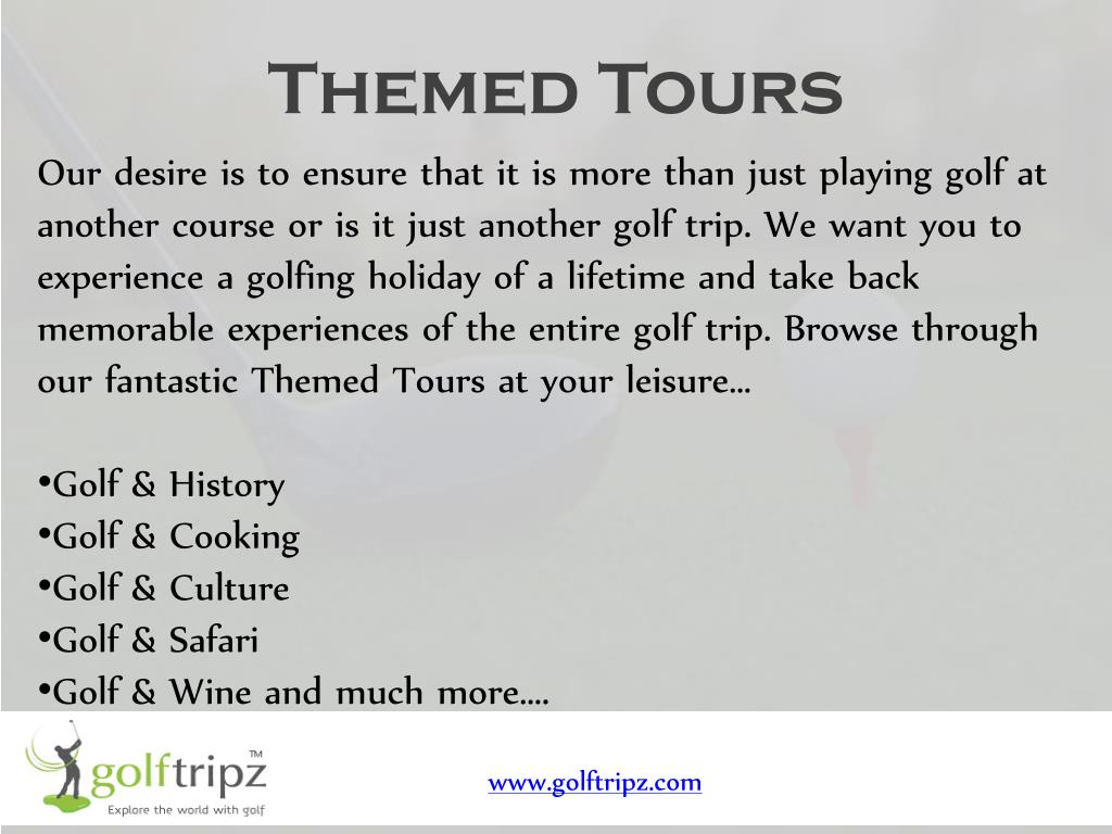 Themed Tours