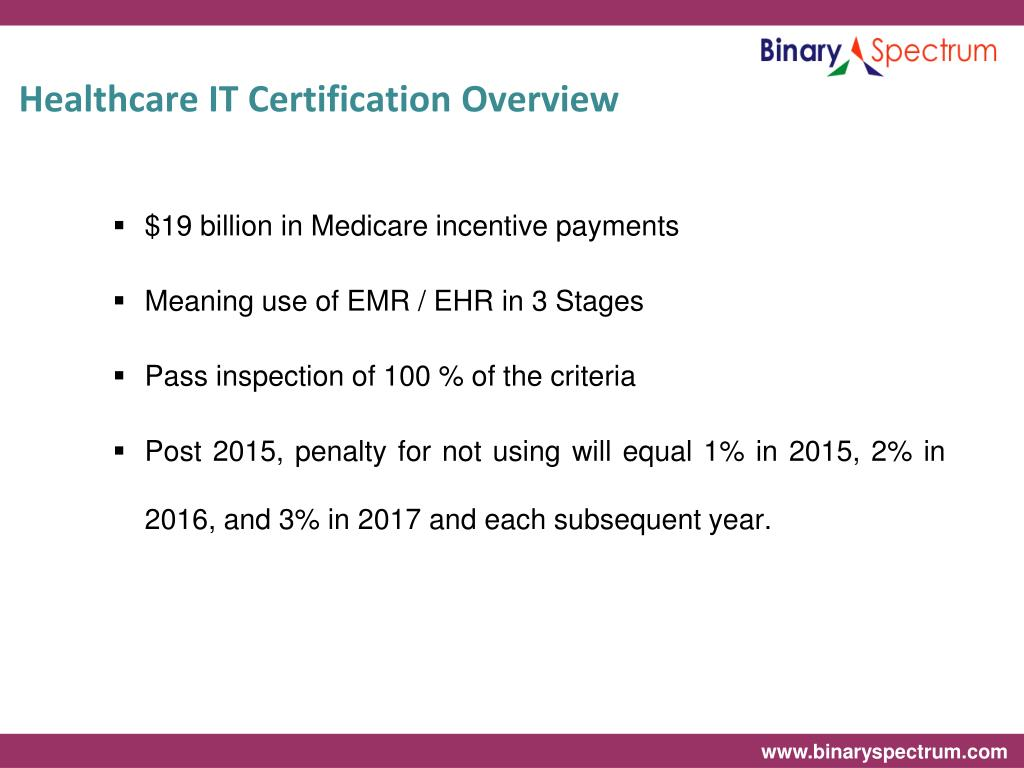Healthcare IT Certification Overview