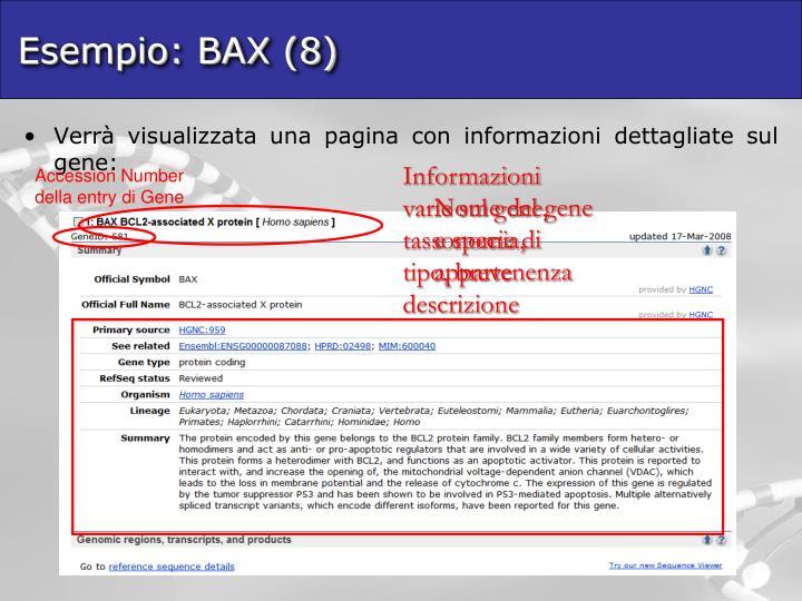 Esempio: BAX (8)