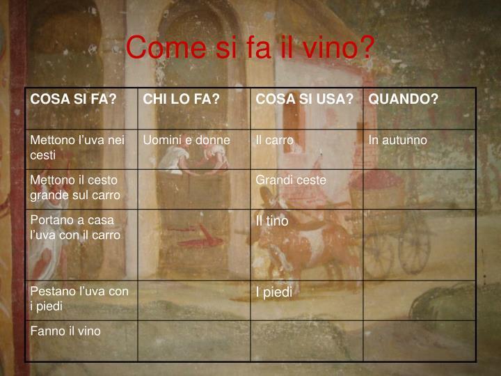 Come si fa il vino?
