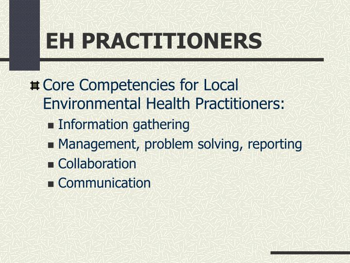 EH PRACTITIONERS