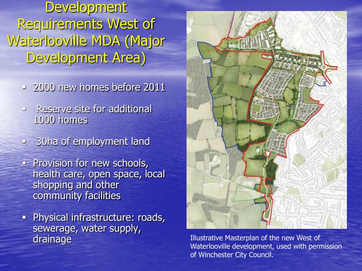 Development requirements west of waterlooville mda major development area