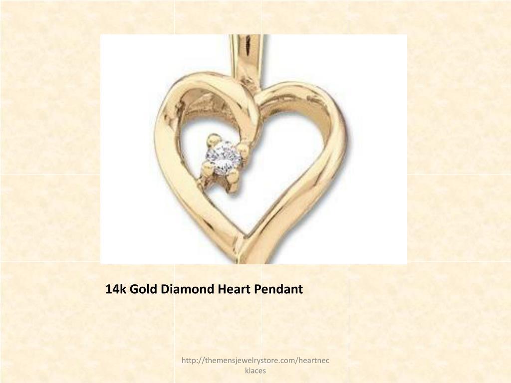 14k Gold Diamond Heart Pendant