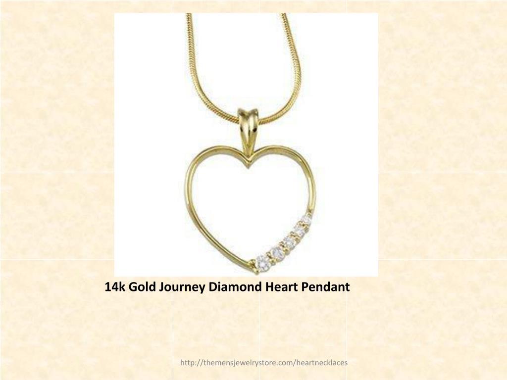 14k Gold Journey Diamond Heart Pendant