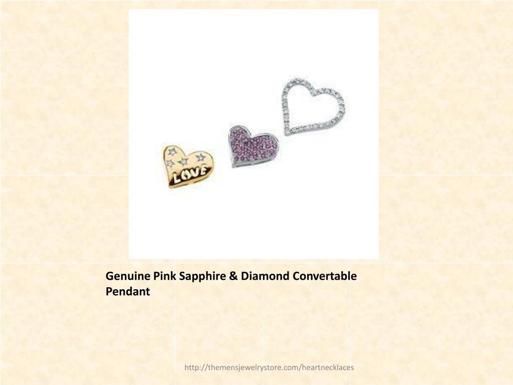 Genuine Pink Sapphire & Diamond