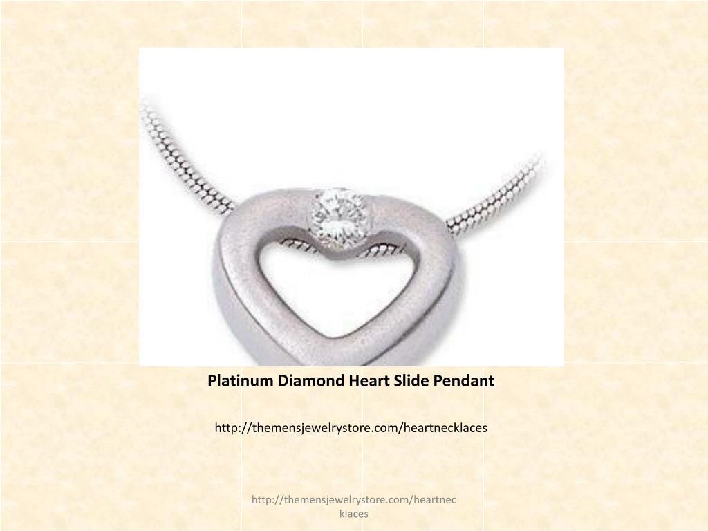 Platinum Diamond Heart Slide Pendant