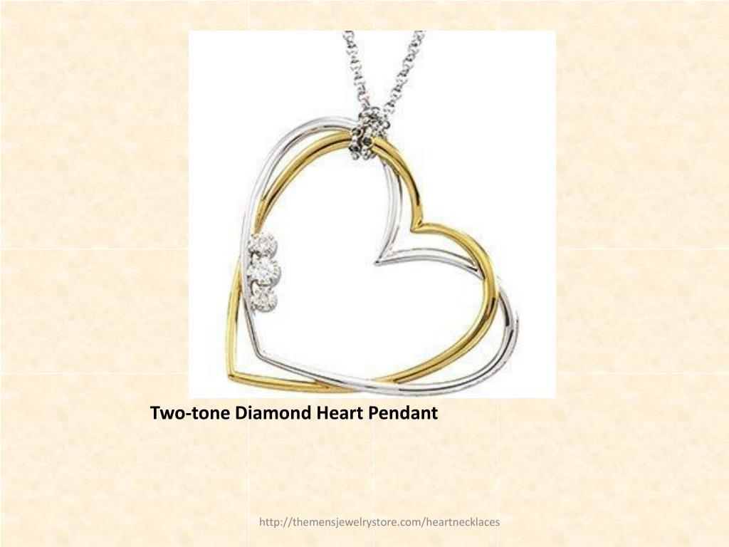 Two-tone Diamond Heart Pendant