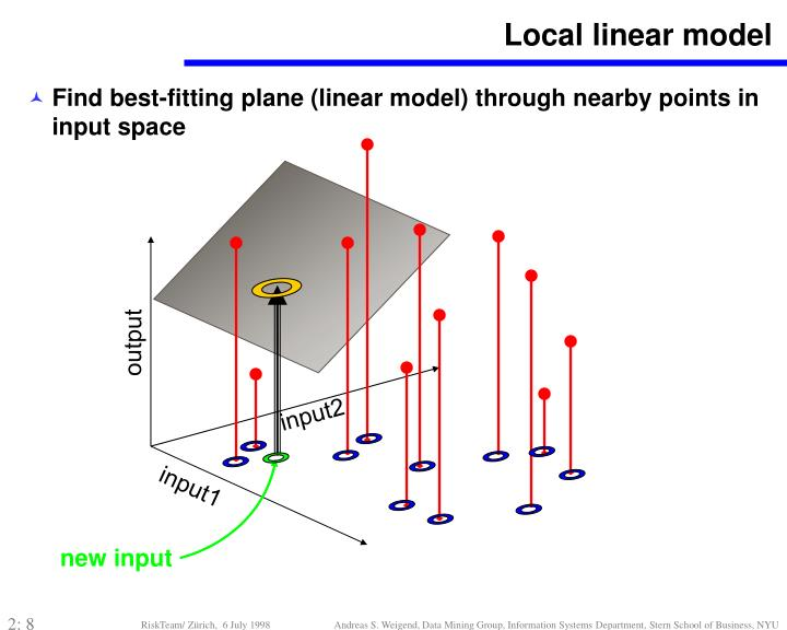 Local linear model
