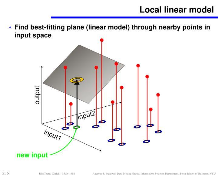 Local linear model