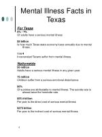 mental illness facts in texas
