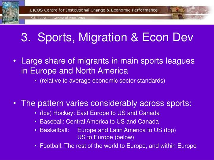 3.  Sports, Migration & Econ Dev